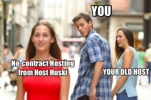 no commitment hosting